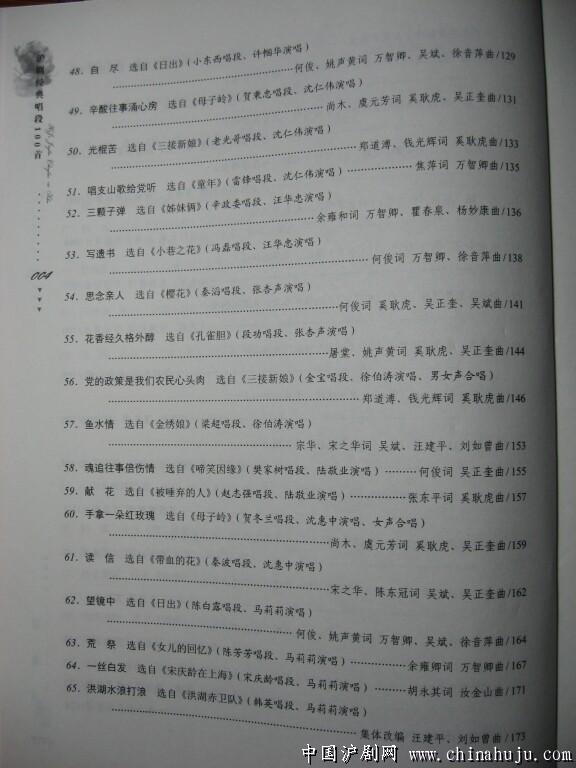 目录 4 沪剧经典唱段100首 目录