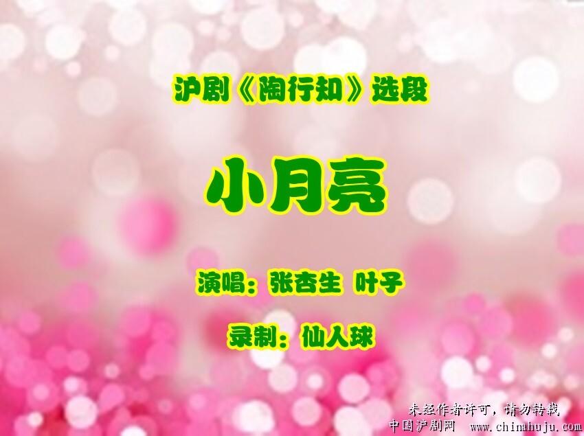 沪剧 陶行知 选段 小月亮 演唱 张杏生 叶子